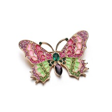 Fashion Women Animal Insect Butterfly Brooches Pins For Women Rhinestone Crystal Hijab Brooch Pins And Brooches Jewelry fishsheep large women figure acrylic brooches and pins fashion resin girl icon big brooch pins female fashion jewelry accessory