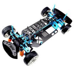Ze stopu Aluminium i węgla wałek napędowy 1/10 4Wd samochodów turystycznych zestaw ze szkieletem dla Tamiya Tt01 Tt01E samochodu Części i akcesoria Zabawki i hobby -