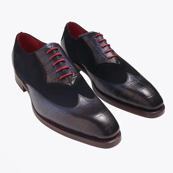 Men Leather Shoes Lace Up Casual Shoes Dress Shoes Brogue Shoes Spring Ankle Boots Vintage Classic Male Casual F55