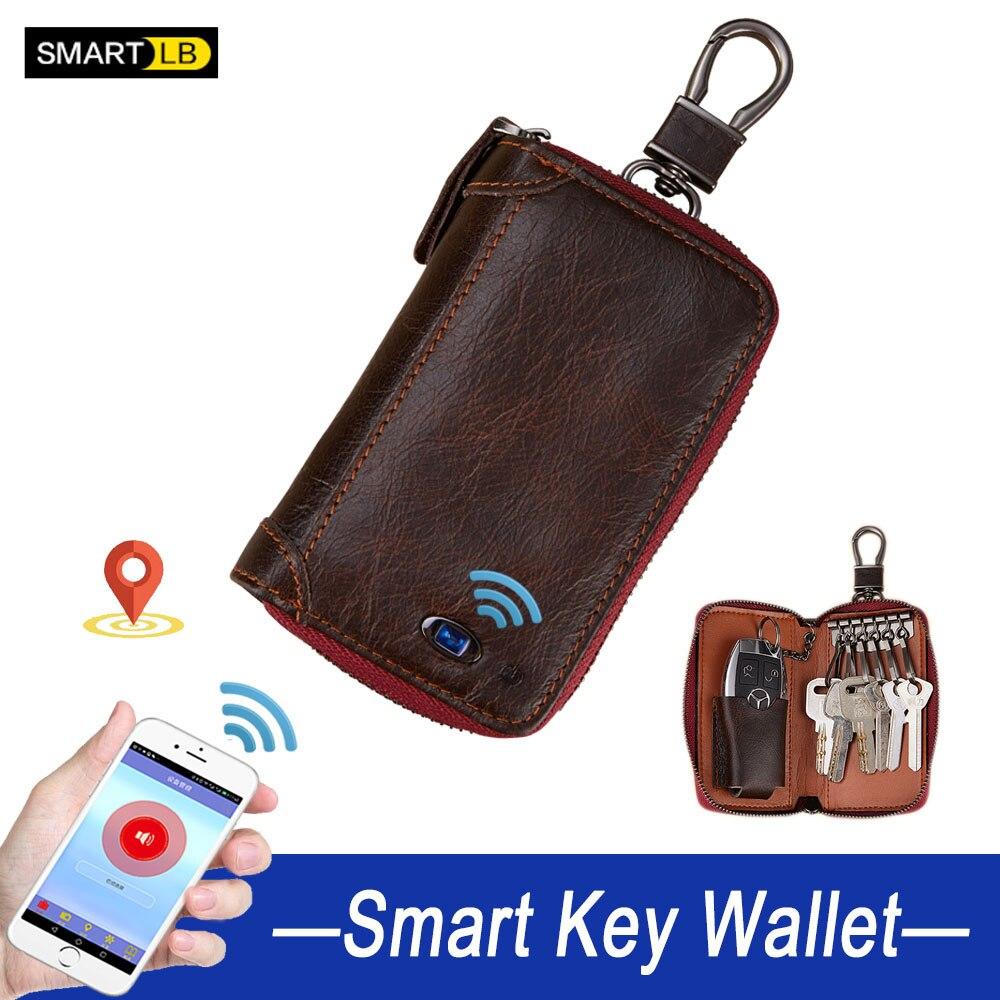 Smart Wallet Key Holder Leather Wallets For Men Organizer Bag Car Housekeeper Women's Wallet Card Holder Coin Purses