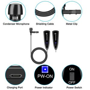 Image 4 - KIMAFUN 2.4G Wireless Lavalier Microphone Lapel Collar Clip on Mic for Phone Recording Microphones Phone Iphone Android Youtube