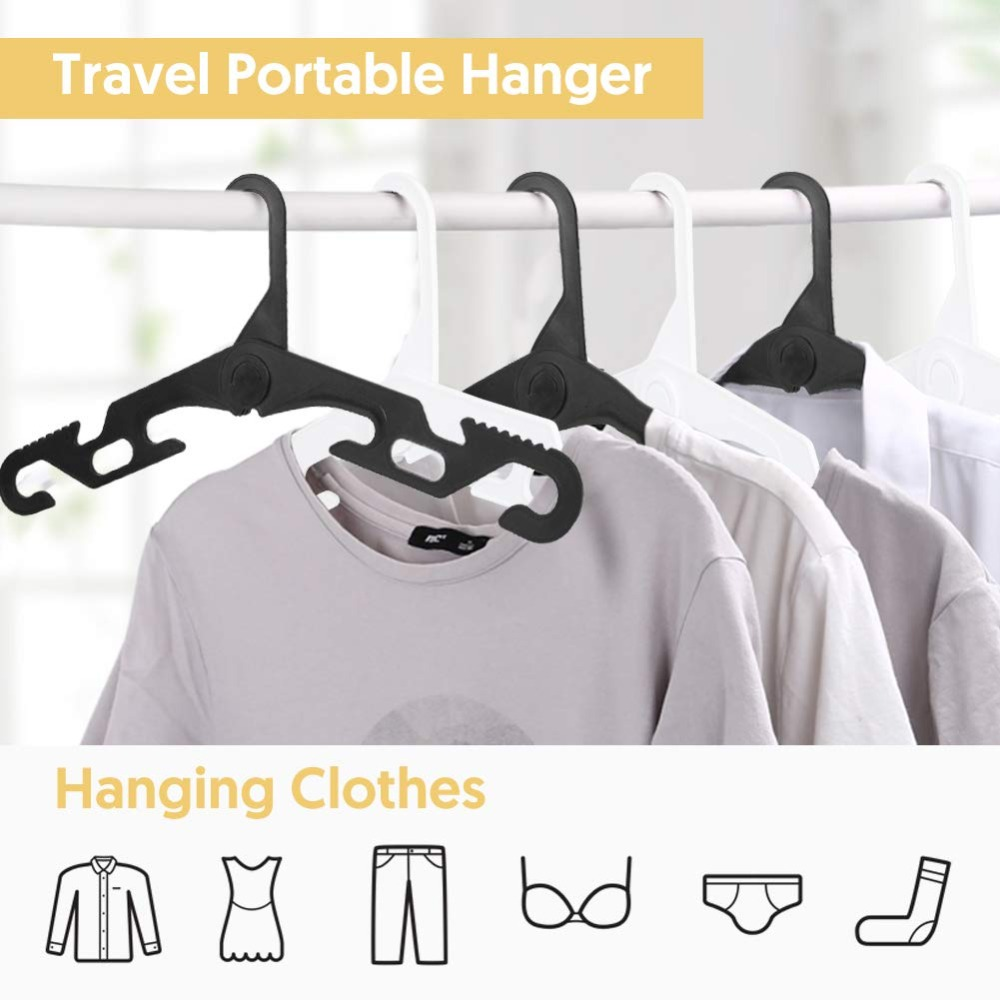NICEDACK Premium Travel Hangers Portable Folding Clothes Hangers Super Bearing Collapsible Hanger Foldable Clothes Drying Rack for Travel, Indoor and Outdoor Use (7)