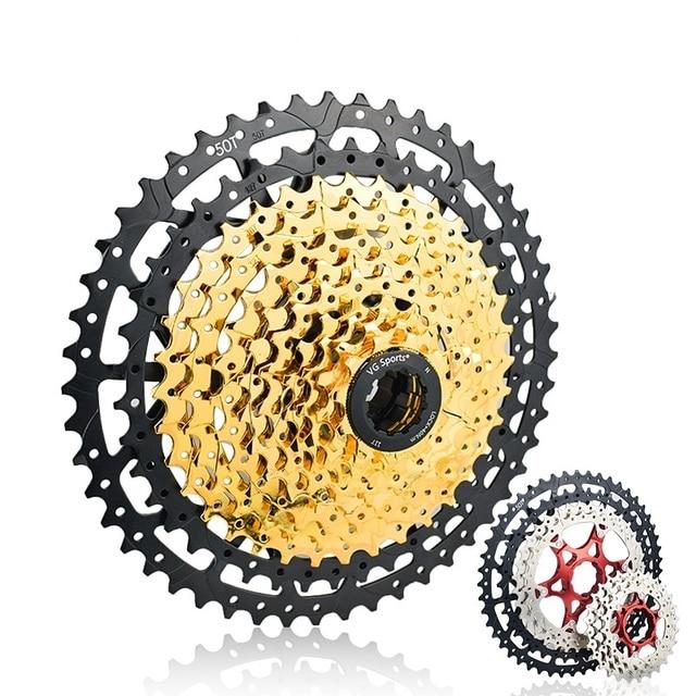MTB 10 11 12 Speed Cassette Wide Ratio Freewheel Mountain Bike Sprocket 11 40T 42T 46T 50T Compatible with Shimano Sram Sunrace