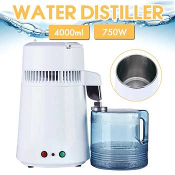 4L Home Pure Water Distiller Filter Water Distilled Machine Distillation Purifier Equipment Stainless Steel Plastic Jug EU/US/UK