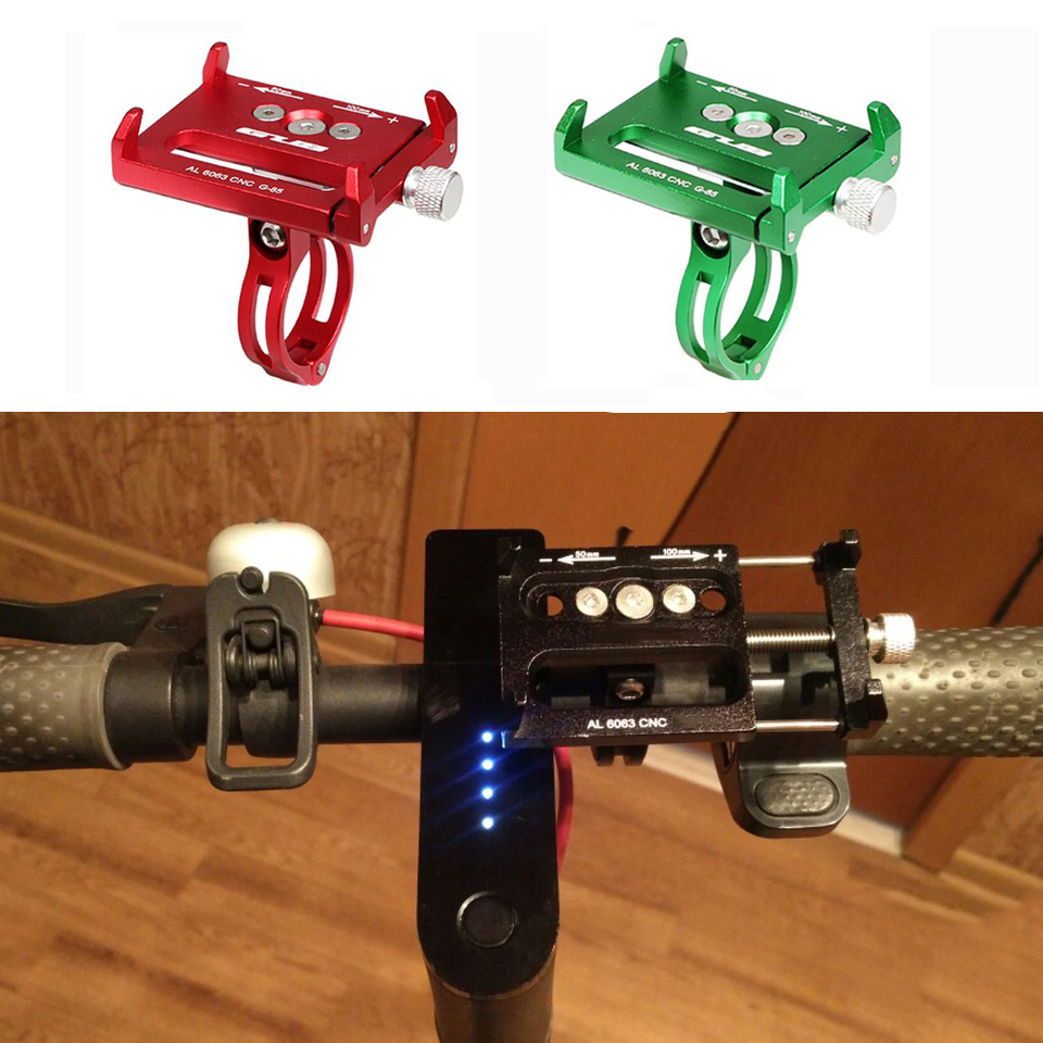 Adjustable Anti-Slip Mobile Phone Stand Holder for Xiaomi Mijia M365 Pro Electric Scooter CNC Alloy Qicycle EF1 Handlebar