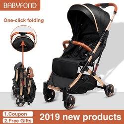 Бесплатная доставка, 5,8 Кг, легкая коляска с золотым каркасом, переносная Складная коляска с зонтиком, детская коляска для новорожденных, дл...