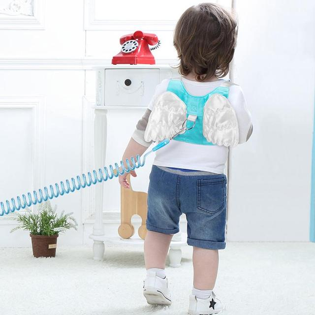 1.5-2.5m Adjustable Kids Safety Harness Children Leash Anti-lost Wrist Link Wrist Strap Traction Rope Band Baby Walker Wristband 1