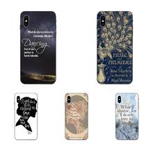 Pride And Prejudice Quotes TPU Hot Verkopen Voor Apple iPhone 11 X XS Max XR Pro Max 4 4S 5 5S SE 6 6S 7 8 Plus(China)