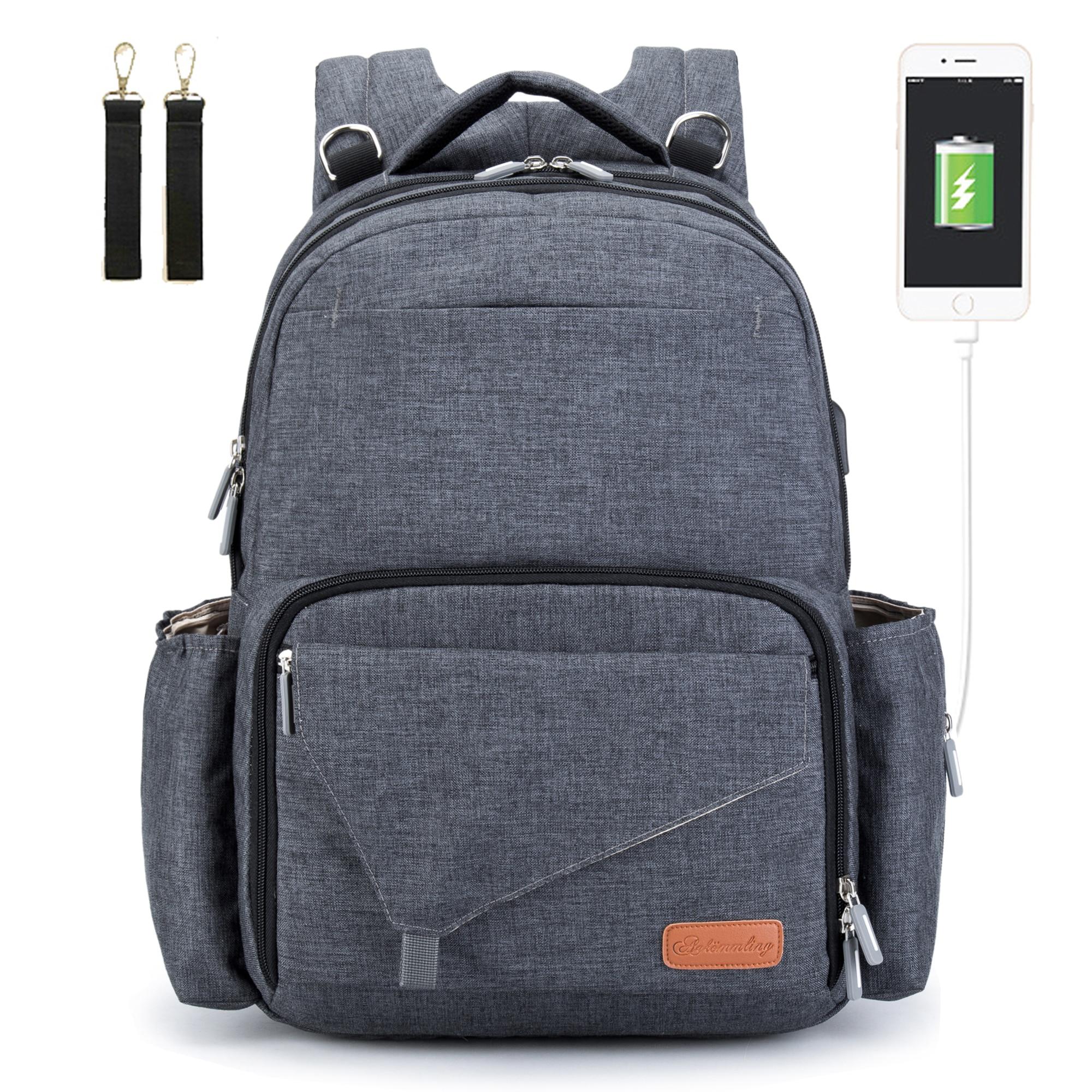 Grand sac à couches étanche pour mère bébé | Sac à dos avec changement USB, sacs à couches de maternité pour maman maman maman, organisateur de poussette, nouvelle collection