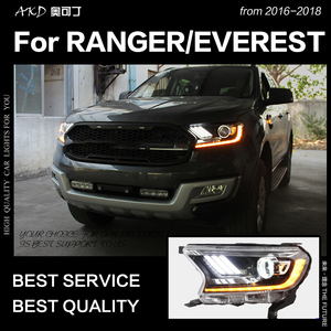 Image 3 - AKD Car Styling for Ford Everest Ranger Headlights 2016 2020 Dynamic Turn Signal LED Headlight DRL Hid Bi Xenon Auto Accessories
