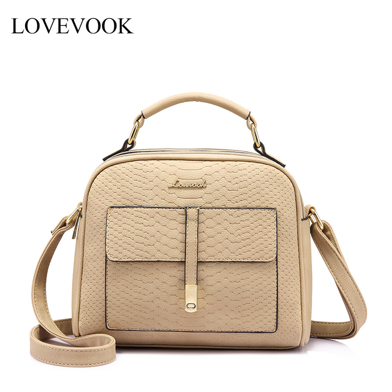 LOVEVOOK Women Shoulder Crossbody Bag Female Messenger Bags High Quality For Ladies Handbags With Top-handle Fashion Design 2019