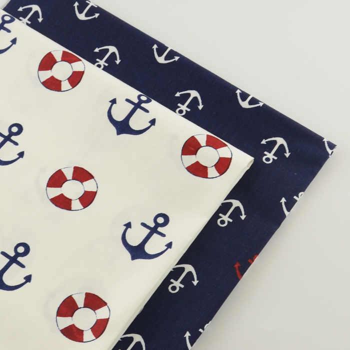 2 조각 앵커 시리즈 40cm x 50cm 코 튼 원단 패치 워크에 대 한 바느질 직물 저렴 한 Tecidos 파라 Roupa 퀼트 조직 Tecido Tida