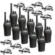 Retevis RT46 Handige Walkie Talkie 10 Pcs Pmr Radio PMR446 Frs + Oortelefoon 10 Pcs + Adapters 5 Pcs Voor hotel/Restaurant/Magazijn