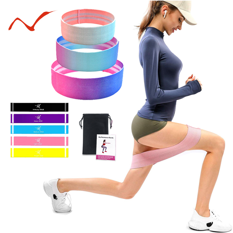 Exercise Resistance Loop Workout Set Hip Elastic Band Booty Bands For Fitness Pilates Yoga Workout Rubber Bands For Legs Arms