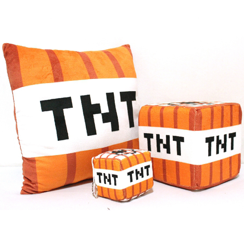 1pcs 10-40cm Game MC TNT Bomb Plush Toys Plush Pillow Key Chain Pendant Soft Stuffed Toys Brinquedos Gifts For Children Kids