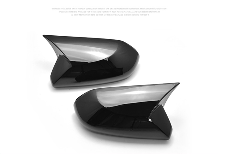 cheapest A Pair Horn Style Carbon Fiber Style Rear View Side Mirror Cover Caps Fit For Toyota Camry 2018  Avalon 2019 C-HR 2016-2018