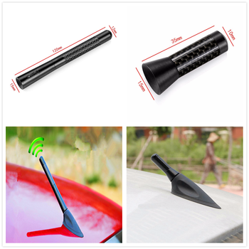 Car universal 3.5/12cm Carbon Fiber roof Metal Short Radio signal Antenna for BMW 330e M235i Compact 520d 518d 428i 530d 130i image