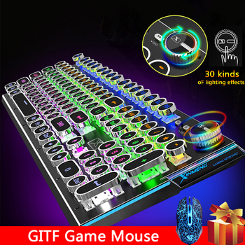2020 New USB wired 104 key gaming mechanical keyboard backlit clavier For pc gamer computador laptops