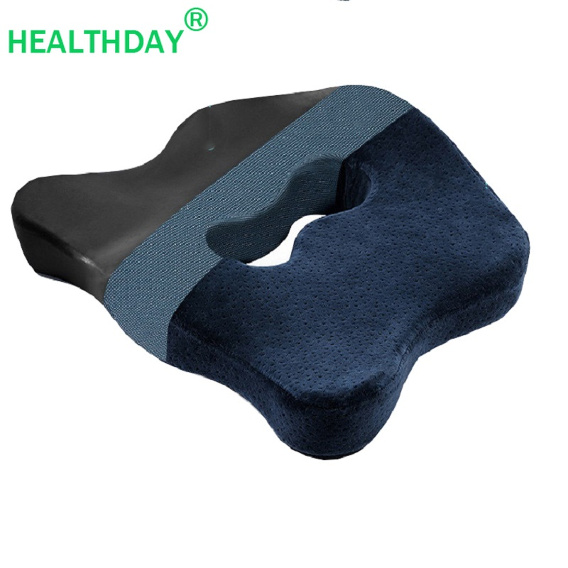 1PC Coccyx Pillow Ergonomic Design Magnetic Cloth Lining Bamboo Charcoal Memory Cotton Non-slip Chair Home Office Seat Cushion