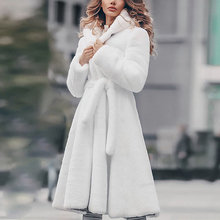 Winter fashion new thick fluffy coat womens warm Parker hooded female 2019 long
