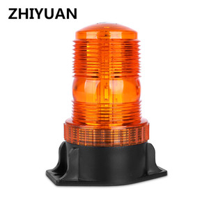Luz intermitente de rotación para Tractor, luz estroboscópico de 12-30V, luz de advertencia de tráfico para PC, alarma de seguridad de ratán de emergencia, ámbar redondo