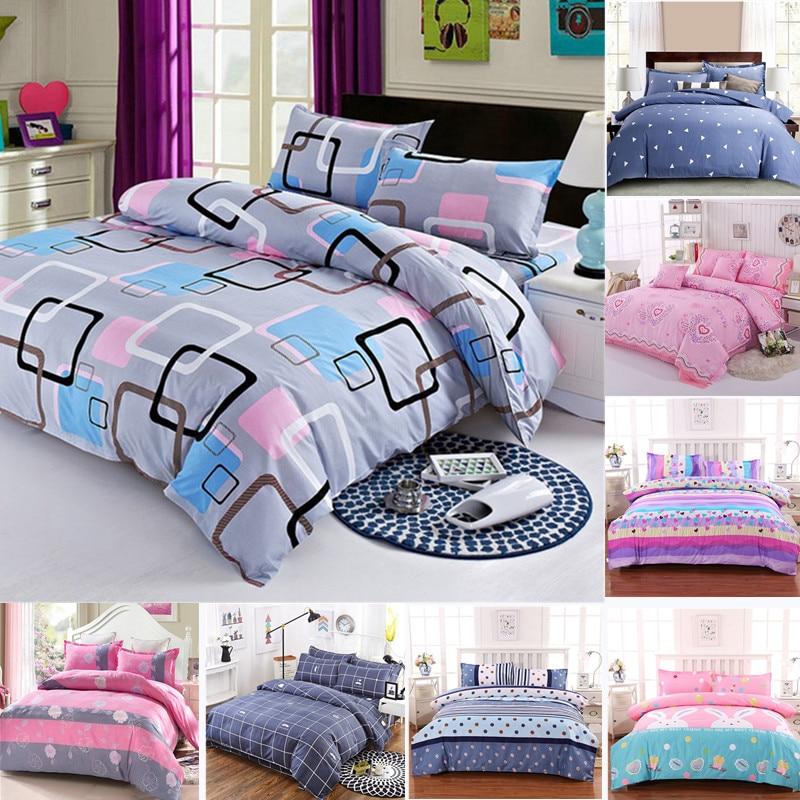 Простыня разных размеров, пододеяльник, наволочка, домашний текстиль, постельное белье, постельное белье, для одного человека, двойное покр...
