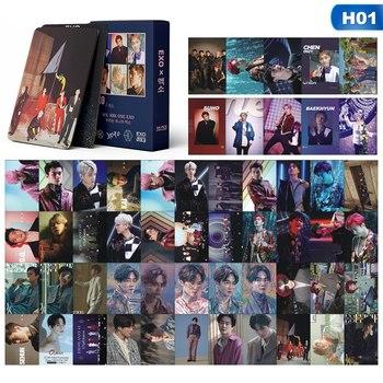 54 шт./компл. KPOP EXO CHANYEOL SEHUN самостоятельно сделанная бумага Lomo карта фото карта постер HD Фотокарта вентиляторы Подарочная коллекция
