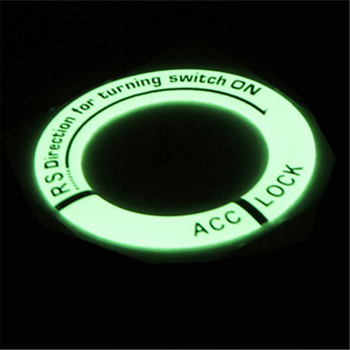 Car Auto Lock Keyring Pedal Reflection Light Luminous Night Sticker Paster Decal Film Decoration Round Circle image
