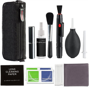 Camera Cleaning Kit Suit LENS Dust Cleaner Brush Air Blower Wipes Clean Cloth for Gopro Canon Nikon DSLR DVR PEN without Liquid(China)