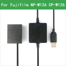 NP-W126 W126S CP-W126 Dummy Battery&DC Power Bank USB Cable for Fujifilm X-A3 X-A5 X-A7 X-A10 X-A20 X-PRO1 X100V X-E2 X-E1 X-E3 x