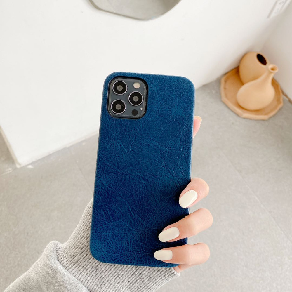 Luxury Leather Plain Candy Color Matte Waterproof Phone Case For iPhone 12 Pro Max 2
