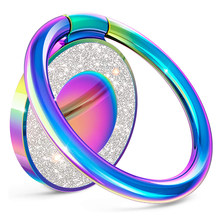 Finger Phone Ring Holder For iphone 11 12 Samsung xiaomi redmi Bright crystal 360 Degree Universal metal Magnetic Holder Stand