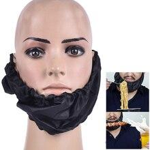 Black Beard Bandana Cover Facial Apron Guard Cap Bedtime Men Bib Bonnet Rag