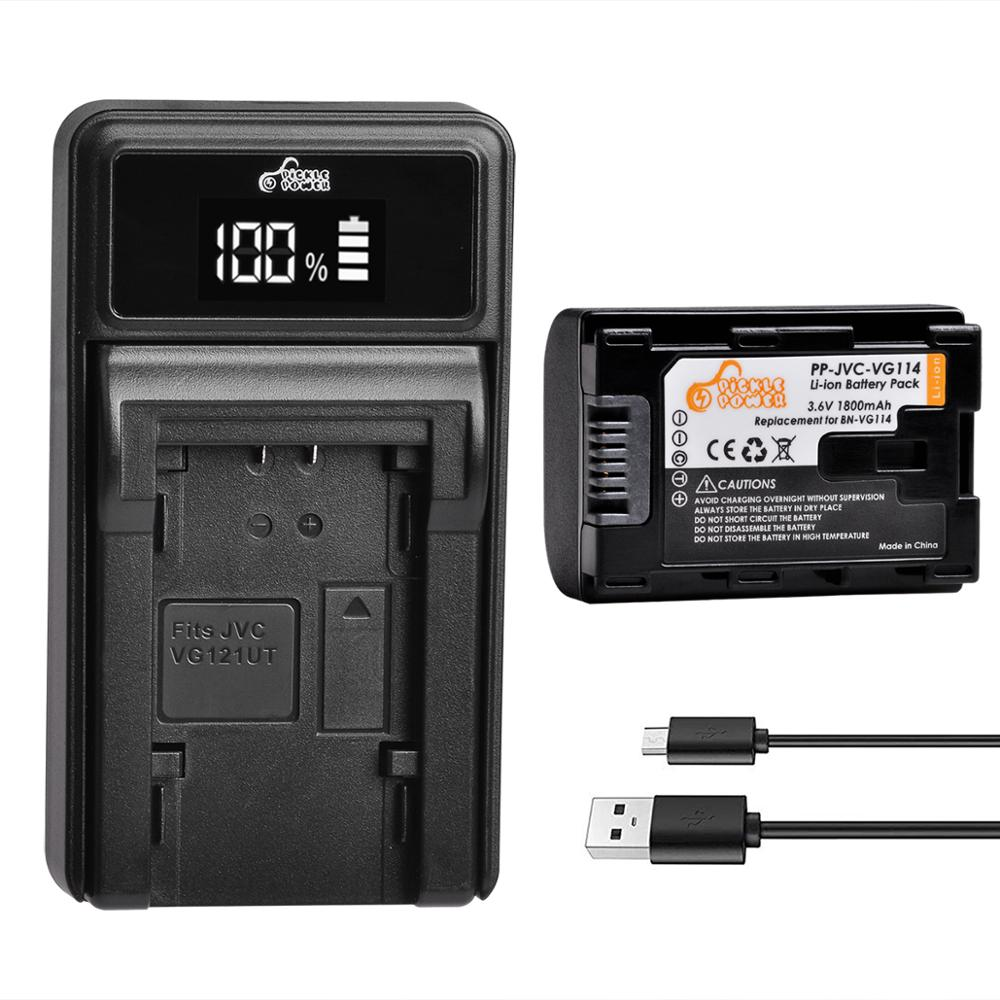 BN VG114 BN-VG114 батарея + светодиодный USB зарядное устройство для JVC BN-VG107 BN-VG107U BN-VG108U BN-VG108E BN-VG114U