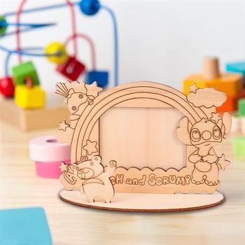 4 sztuk drewniane ramka na zdjęcia obraz w ramie rama (Bee słoń łydki Koala) tanie i dobre opinie NUOLUX Drewno PODŁUBAĆ Pakiet