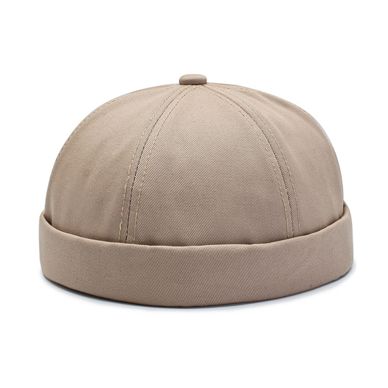 Vintage Dome Hat Mens Warm Velvet Beanies For Men Retro Crimping Brimless Skull Caps Autumn Casual Hip Hop Cap Gorro
