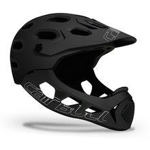 Cairbull allcross mountain cross country bicicleta rosto cheio capacete casco lntegral mtb esportes radicais capacete de segurança cascos