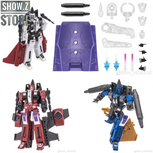 [Show.Z Store] NewAge H16 H17 H18 Beelzebul,Mammon & Mephisto Thrust,Ramjet & Dirge Set Of 3 Transformation Action Figure