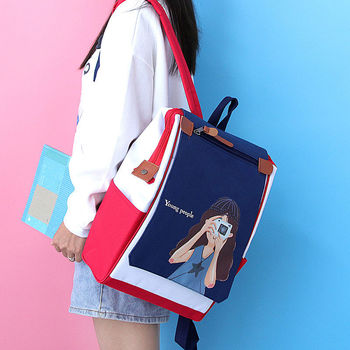 Fashion Cool School Bags for Teenage Girls Backpack Women Bag School Preppy Style Nylon Teen Bookbag Female Youth SchoolBag