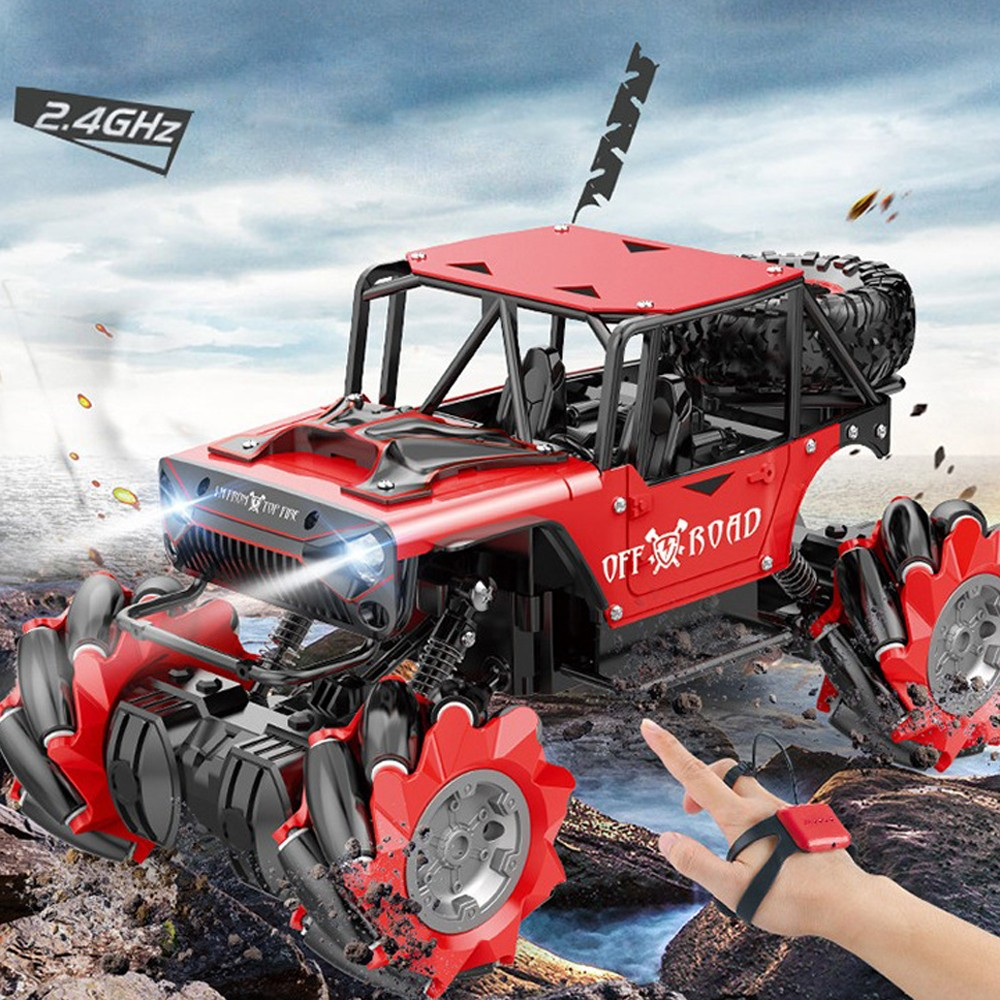 SHAREFUNBAY 1:14 Rc Car 4wd  2020 New Gesture Sensing Rc Car Watch Dual Rc Off-road Vehicle Alloy Lateral Drift Children Toys.