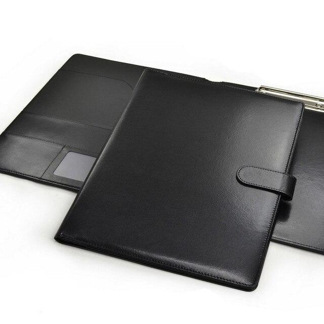 شحن مجاني عالية الجودة والجلود التقليد A4 مجلد/حافظة جلدية متعددة الوظائف المؤتمر