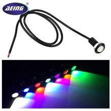 цена на 1*Car Moto waterproof 18mm Ultra-Thin COB LED Eagle Eye DRL Daytime Running light Fog Parking Tail Reverse Backup Rear Lamp