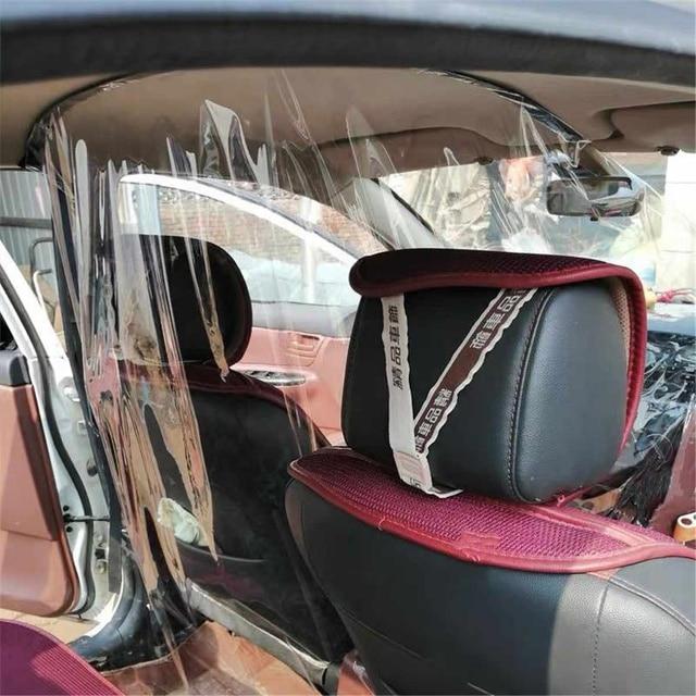 1,4x2,1 m protección de coche Pantalla de partición taxi conductor cab película de aislamiento transparente antigotita película protectora protección interior