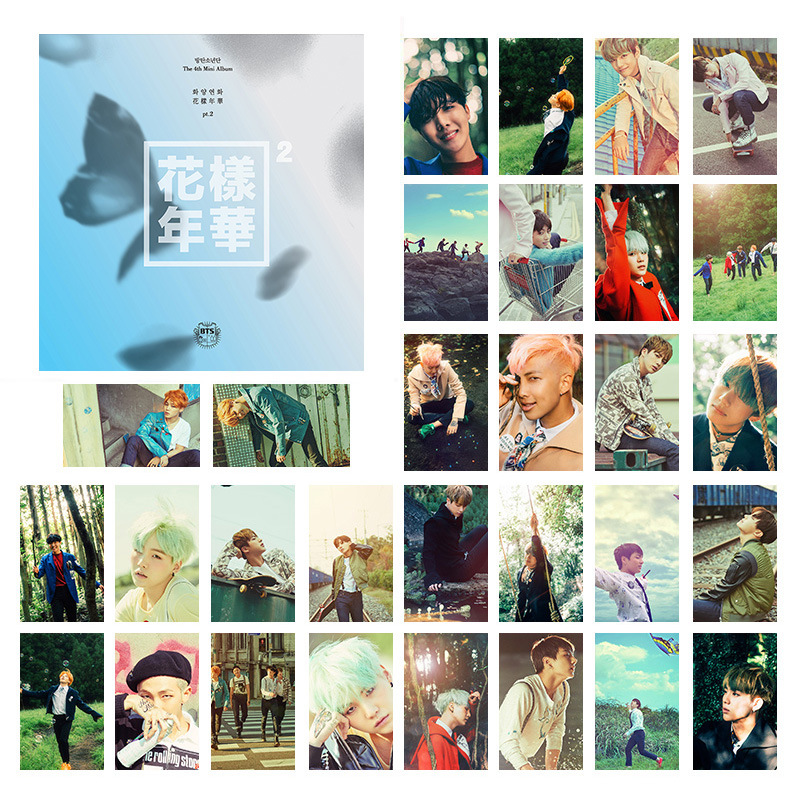 New Arrival Bangtan Boys LOVE YOURSFLF Poster Cards Postcards Photo Cards Poster Photocard Lomo Card Wall Sticker