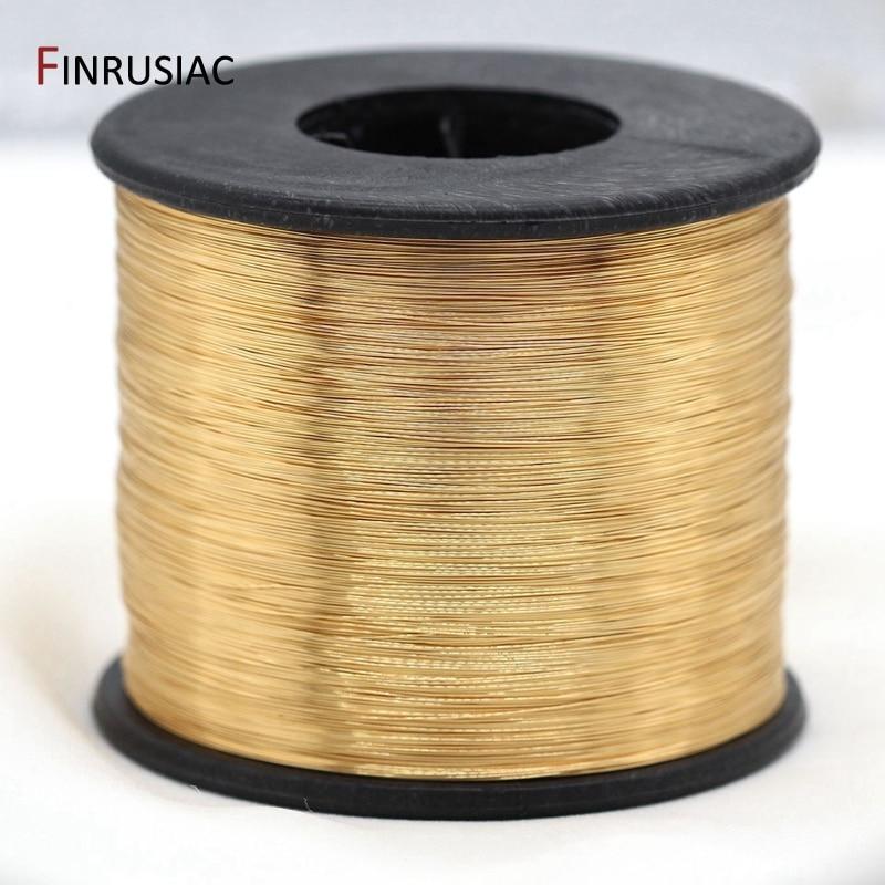 проволока 5 метров покрытие из настоящего золота Медный провод, аксессуары к ювелирным украшениям DIY, 0,3/0,4/0,5/0,6 мм металлическая проволока дл...