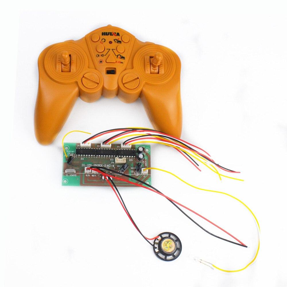 Huina hui na 350 550 2.4g 30 medidores 12ch controle remoto e receptor placa sistema de rádio 4-8v para o jogo do tanque da máquina escavadora com orador