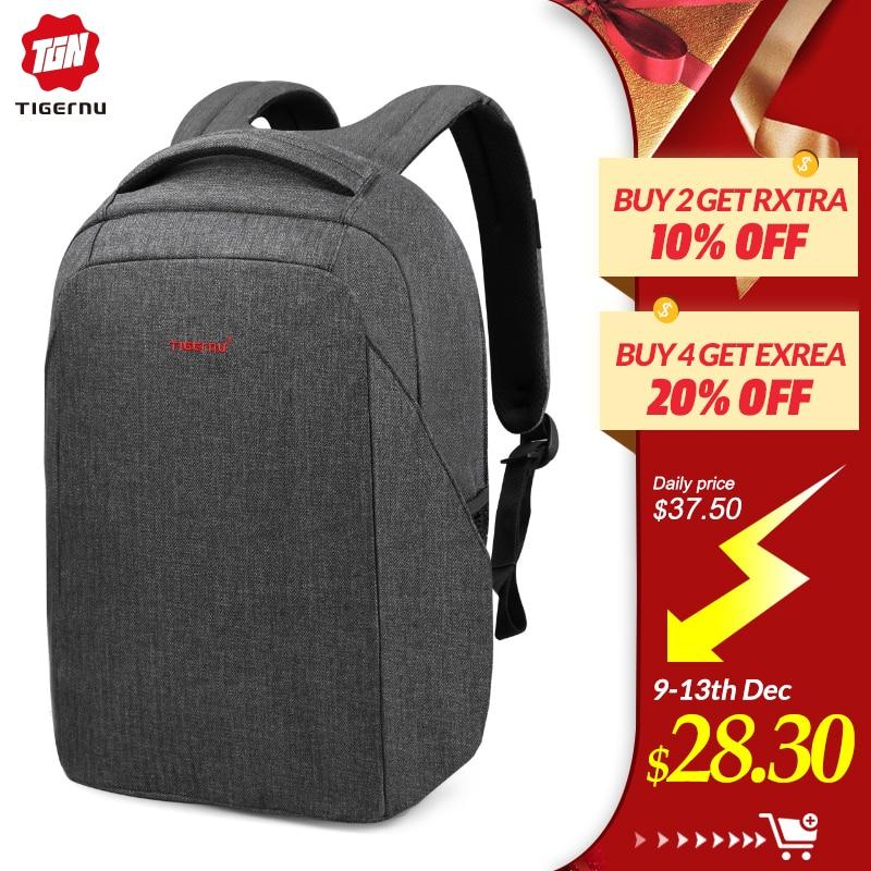 Tigernu Men Anti Theft Laptop Backpack USB Computer Backpacks For Women Male Bagpack School Bag Backpack For Teens Youth Backbag