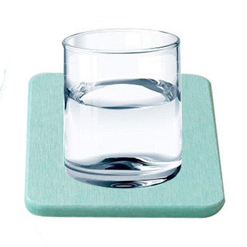 Diatom Mud Coaster Бытовая диатомовая земля умывальник посуда для напитков аксессуары для бусин квадратный круглый водонепроницаемый абсорбирующий Coaster