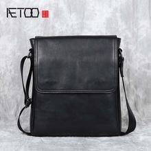 Повседневная кожаная сумка aetoo для мужчин мессенджер на плечо