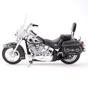 Image 2 - Maisto 1:18 2002 FLSTC miras Softail klasik kayma döküm araçları koleksiyon hobiler motosiklet Model oyuncaklar
